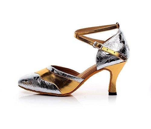 Tacco Alto Da Donna Con Cinturino Alla Caviglia Sintetico, Scarpe Da Ballo Latino Sintetico Alla Moda