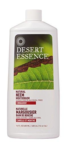 Desert Essence Neem Mouthwash, Cinnamint, 16 Fluid Ounce