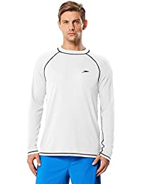 Men's UPF 50+ Easy Long Sleeve Rashguard Swim Tee