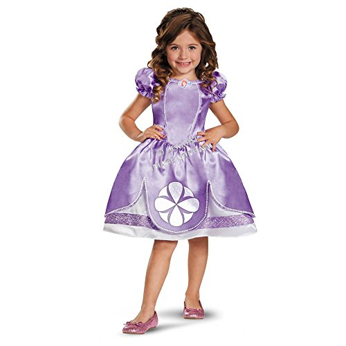 [Disguise Girl's Disney Sofia The First Classic Costume, 3T-4T] (Sofia The First Dress Up Costume)