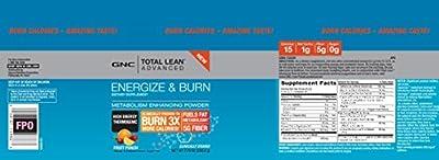 GNC Total Lean Advanced Energize Burn Thermogenic, Fruit Punch - 7.79 OZ (220.8 gram)