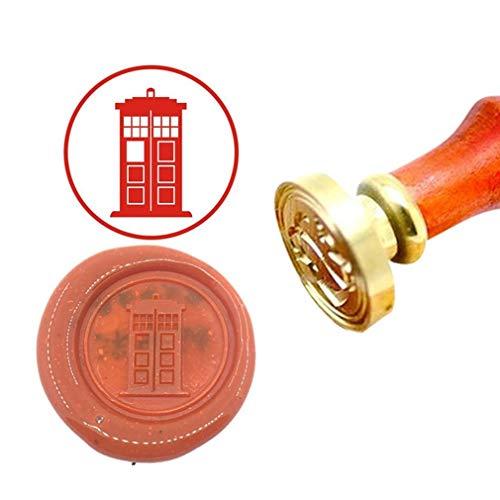 - Kooer Tardis Wax Seal Stamp Custom Tardis Sealing Wax Stamp Kit Tardis Wax Stamp Set Personalized Wedding Anniversary Invitation Seal Stamp (Seal with Handle)