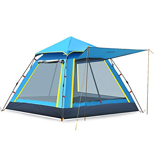 Hewolf,Pop Up Tent 4 Person, Beach Tent Sun Shelter for Baby with UV Protection – Automatic and Instant Setup Tent for Family