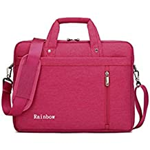 Laptop Case,SNOW WI- 14.4 Inch Fashion Durable Multi-functional waterproof Laptop Shoulder Bag Briefcase Case for MacBook Air,MacBook Pro,Acer,Asus, Dell,Lenovo,HP,Samsung, Sony(rose)