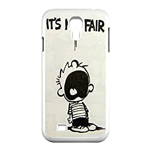 Innovation Design Calvin and nose Hobbes Skidproof Printed Hard Snap-On case cover for Samsung Galaxy S4 an I9500 -White031303 an people
