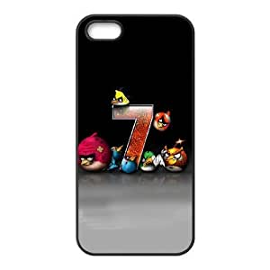Durable Rubber Cases iPhone 5, 5S Cell Phone Case Black Angry Birds Puutub Protection Cover