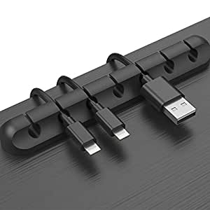 Cable Clips Cord Management Organizer, 3 Packs Adhesive Hooks, Wire Cord Holder Power Cords Charging Accessory Cables, Mouse Cable, PC, Office Home (7 Slots, 5 Slots 3 Slots)