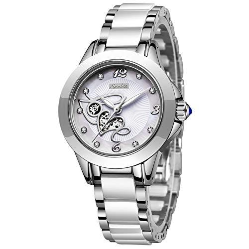 LIGE Women's Watches Fashion Casual Lightweight Analog Quartz Watch for Women Waterproof Ceramic Band Simple Elegant…