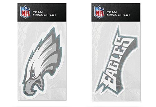 Rico Industries NFL Philadelphia Eagles 2-Pack Die Cut Team Logo Magnet Set