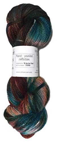 Artisan Yarns Hand Dyed Baby Alpaca Yarn, Hand Painted: Turquoise Trail, Dk Weight, 80 Grams, 200 Yards, 100% Baby Alpaca