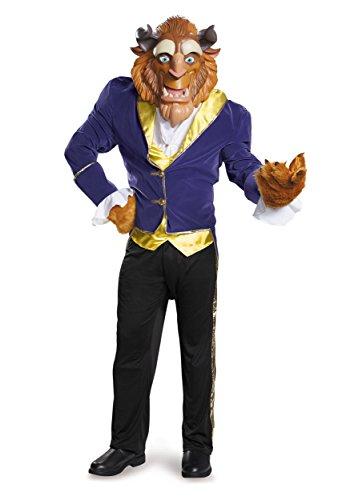 The Beast Halloween Costume For Adults (Disney Men's Plus Size Beauty Beast Ultra Prestige Costume Faux Fur, Blue,)