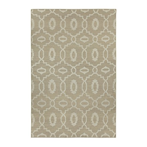 Capel Damask Rug (Capel Rugs Genevieve Gorder Anchor Rectangle Flat Woven Area Rug, 5 x 8', Beige)