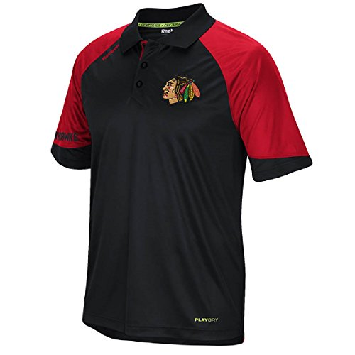 (Chicago Blackhawks Reebok 2015 Center Ice Team Performance Polo Shirt)