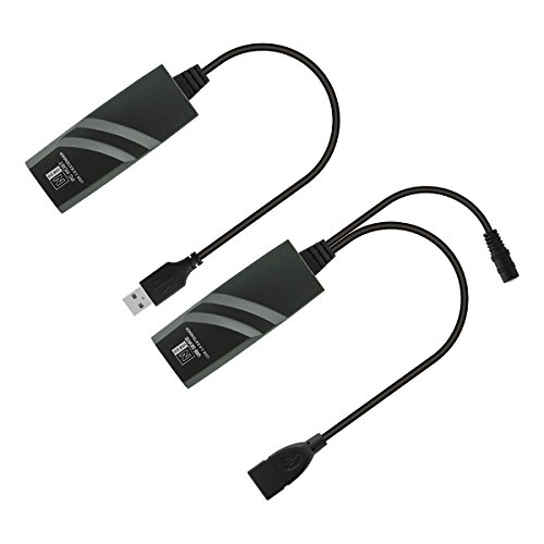 DriverFree 50-Meter USB Ranger - USB 2.0 Network Extender Over RJ45 Ethernet IP Cat5 / Cat6 / Cat7 - Connect USB 2.0 Devices 50Meter Away From Computer (Support Windows 10 / MacOS 10.12 / Ubuntu) by SH-US-NT50 (Image #2)