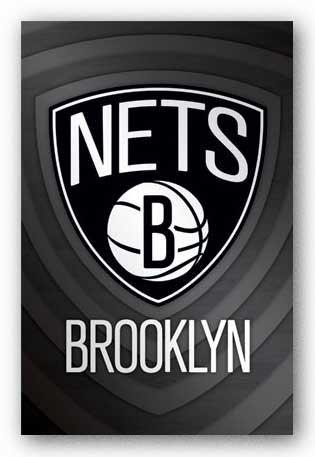 Brooklyn Nets Logo NBA Basketball 24 By 36 Poster Print ()