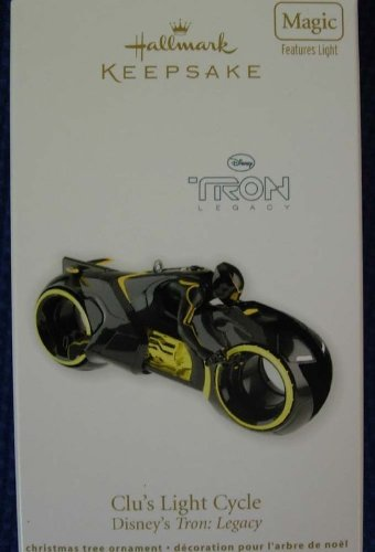 2011 Clu's Light Cycle Disney Tron Legacy Hallmark Ornament
