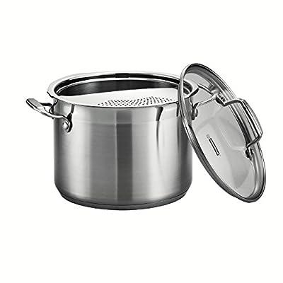 Tramontina 80120/200DS 3-Piece Tramontina Gourmet Stainless Steel Pasta Cooker, 6-Quart