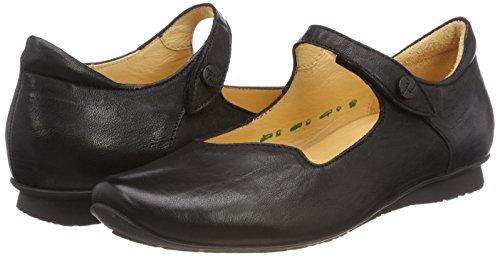 Ballet Chilli 00 Strap Think schwarz Black Women's Flats Ankle 282107 O7Hcy4nXvq