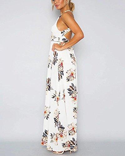 Maxi Ronde Manches De Femme Blanc Fleurie Cocktail Et Chic Longue Robe sans Vintage Robe qtwBnRPwF