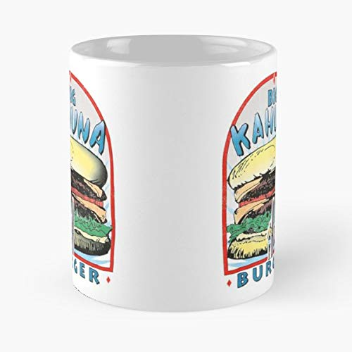 Big Kahuna Burger Quentin Tarantino Hawaiian Fast Food - 11 Oz Coffee Mugs Unique Ceramic Novelty Cup, The Best Gift For Holidays. (Cult Classic Icon)