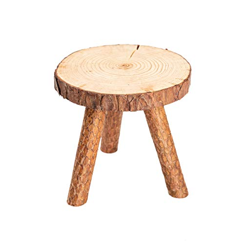 - Asian Home Rustic Tree Trunk Slices Wood Three Legged Plant Stand, Vase Stand, Display Stand, Perfect for Home Decor in Any Room, Furniture (Large)