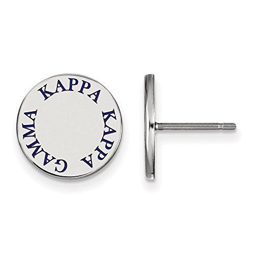 Sterling Silver LogoArt Kappa Kappa Gamma Enameled Post Earrings