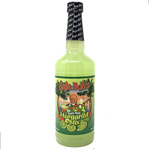 Baja Bob's ORIGINAL MARGARITA Mix - 32 oz - Sugar Free Cocktail Mixer - Keto Friendly (Sweet And Sour Mix Drinks With Tequila)