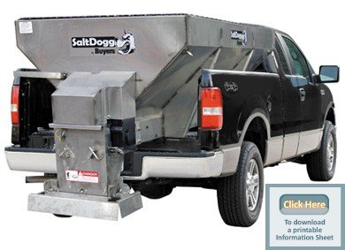 Salt Dogg Electric Stainless Steel Hopper Spreader - 1.5 Cu. Yard Capacity, Model# 1400701SS