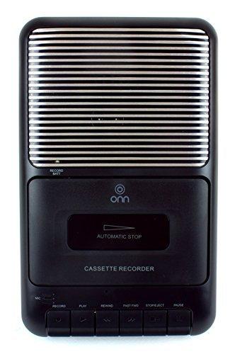 Onn Portable Cassette Recorder Showbox with External Microphone & Cassette Tape - Black ONA13AV504 by Onn