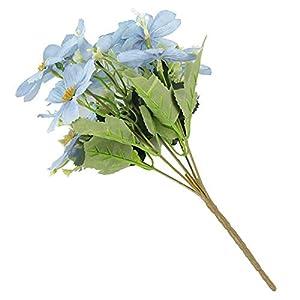 MARJON Flowers1Pc Handmade Artificial Flower Fake Sakura Home Garden Wedding Party Table Christmas Decor - Blue 101