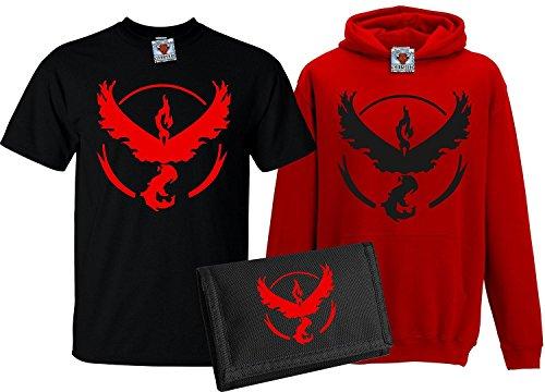 Bullshirt's Kid's Team Valor T-Shirt, Hoodie & Wallet Set (12-13 Years, Black...