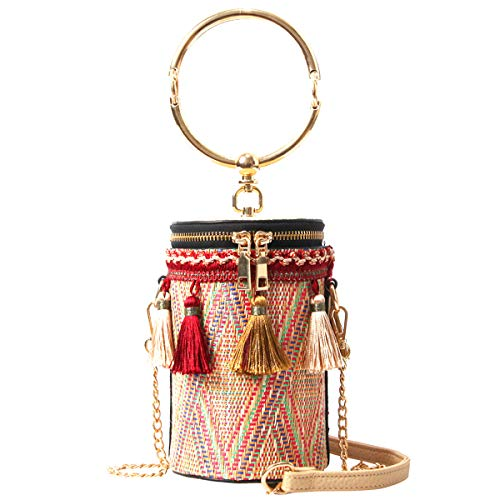 - Tassels Woven Bucket Bag, Bucket bags for women, Crossbody Bag For Women, Handbags, Bag with Metal Chain Strap, shipping ...