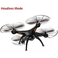 Fentac 6AXIS System Headfree SYMA X5SC-1 UP Graded Version Venture HD Camera 2.4GHz 4 Channel RC Quadcopter with 2GB Memory Card (Black)