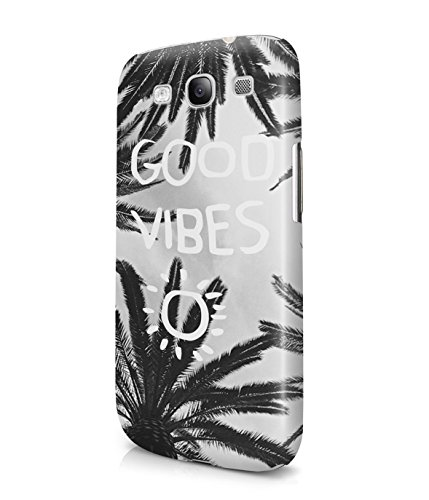 Good Vibes Only Grunge Palm Trees California Summer Plastic Snap-On Case Cover Shell For Samsung Galaxy S3