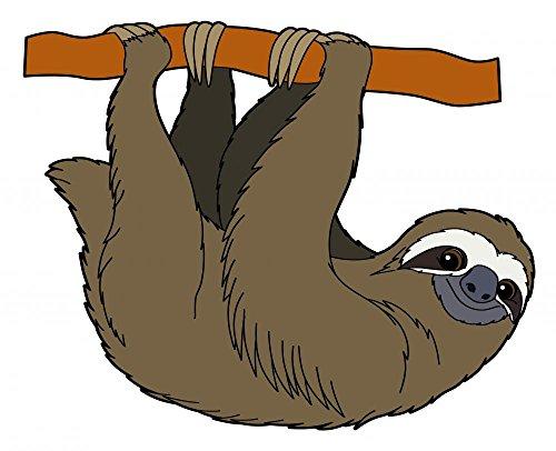 Cartoon Animal Sloth Flat Wall Decal By Wallmonkeys Peel