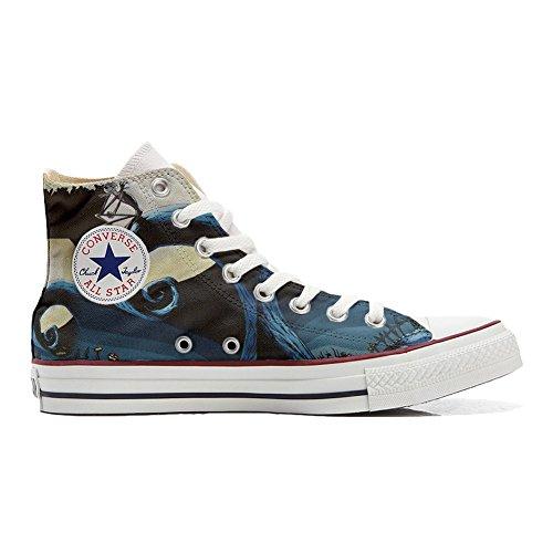 Chaussures Hi All Italien Artisanal produit Unisex Art Imprimés Converse Star Sneaker Personnalisé Abstract Coutume Et xXYPxAqd