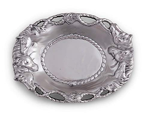 (Arthur Court Horse 14-Inch Oval Tray)