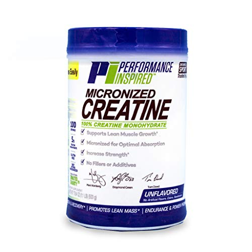 Performance Inspired Nutrition Micronized Creatine, Unflavored, 1.1 lb - Style #: MICROCRT (Best Mass Supplement 2019)