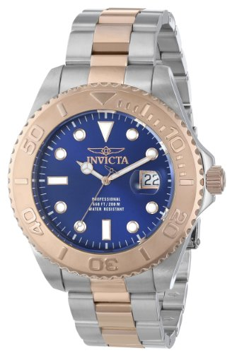 Invicta Men's 15189SYB Pro Diver Swiss Quartz Two-Tone Watch with Impact Case