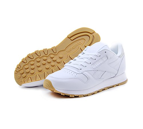 Reebok Diamond Bianco Femme Baskets Cl Lthr Met vvawrq