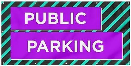 CGSignLab Modern Block Heavy-Duty Outdoor Vinyl Banner 8x4 Public Parking