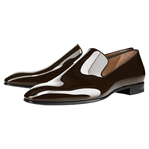 Loafers Coffee Dress Cuckoo Patent Leather Mens Shoes Mens Oxford Cuckoo Pg8w1qz