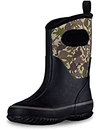 Insulating All Weather MudBoots for Toddlers and Kids - Warm Neoprene Boots for Snow, Rain, and Muck