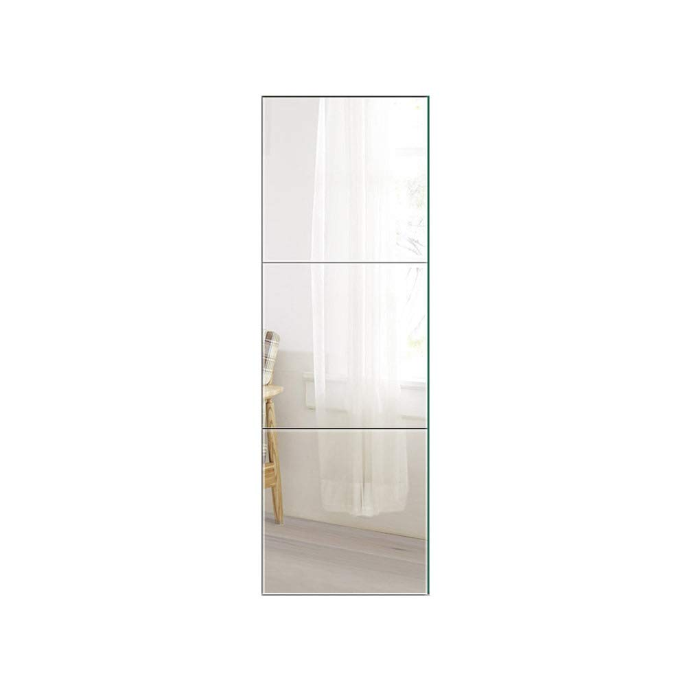 Beauty4U Square Mirrors - 16 Inch 3Pcs Flexible Wall Mirror Set HD Full-Lenth Vanity Make Up Mirror Tiles for Wall Décor