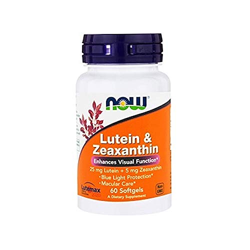 NOW Supplements, Lutein & Zeaxanthin with 25 mg Lutein and 5 mg Zeaxanthin, 60 Softgels