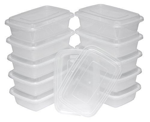 TTG 300-Pack Bento Lunch Boxes with Lids (1 Compartment/ 32 oz) | Microwaveable, Dishwasher & Freezer Safe Meal Prep Container | Reusable Dish Set for Prepping, Portion Control & More (Opaque White) by Table To Go (Image #3)