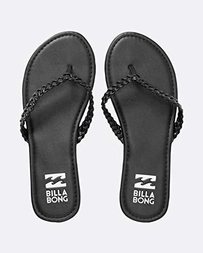 Billabong Women's Braidy Flat Sandal, Black, 8 M US
