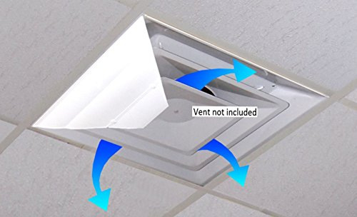 2' Square Magnet - AIRVISOR Air Deflector for Office Ceiling Vents 24