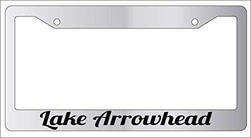 - Lake Arrowhead Chrome Metal License Plate Frame 1518
