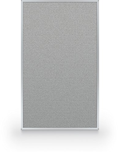 Best-Rite 60 x 36 Inch Standard Modular Divider Panel, Gray Fabric Panel, (66215-88) ()